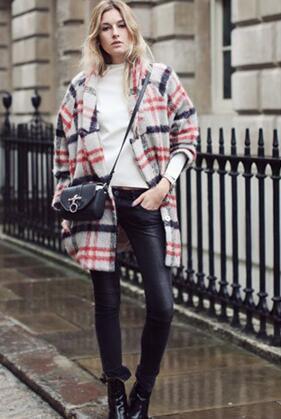 冬款大衣最有范 修身保暖两不误