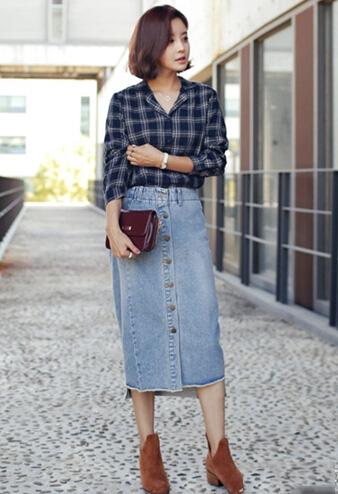 粗腿女孩穿衣搭配 8种长裙最显瘦