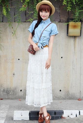 夏季长裙搭配 八种穿法显女神范儿