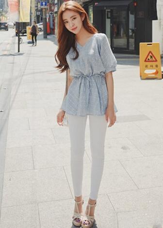 韩版雪纺衫搭配 展现清新柔美气质