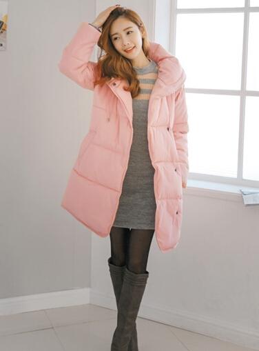 新款棉服显瘦搭 保暖时尚两不误